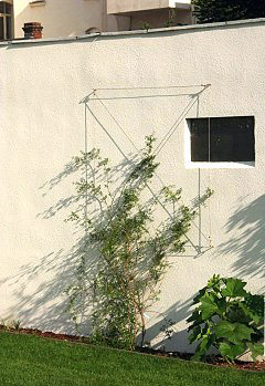 Small trellis made of steel cable