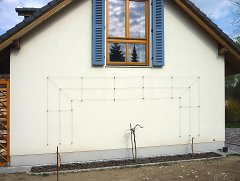 Espalier/Trellis wall for roses