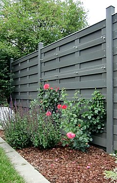 Trellis system on a fence