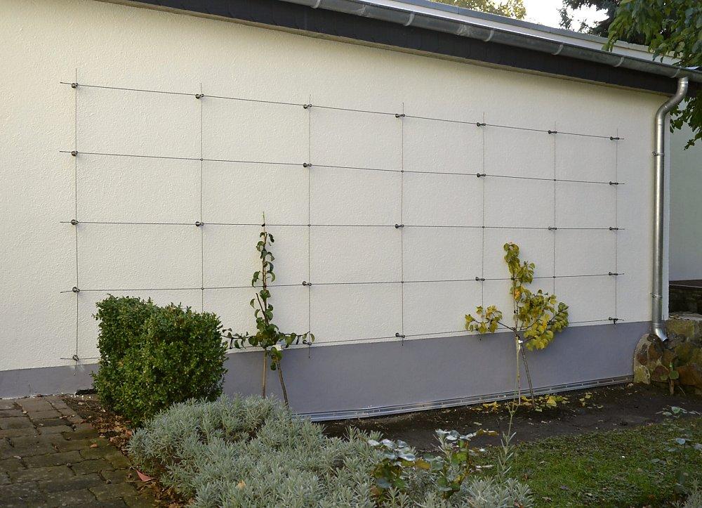 cacher un garage avec des plantes grimpantes. Black Bedroom Furniture Sets. Home Design Ideas