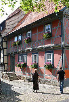 Flower boxes in Wernigerode / Saxony-Anhalt