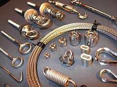 Stainless steel wire rope and accessories