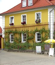 Trellis elements on the inn in Sörnewitz / Saxony (This place is a Mecca for grapevine freaks!)