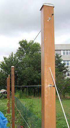 Drahtrahmen f r wein himbeeren brombeeren und spalierobst - Holzwand selber bauen ...