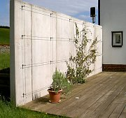 Abtrennungen mauern und w nde aus sichtbeton - Gartenmauer fertigteile ...