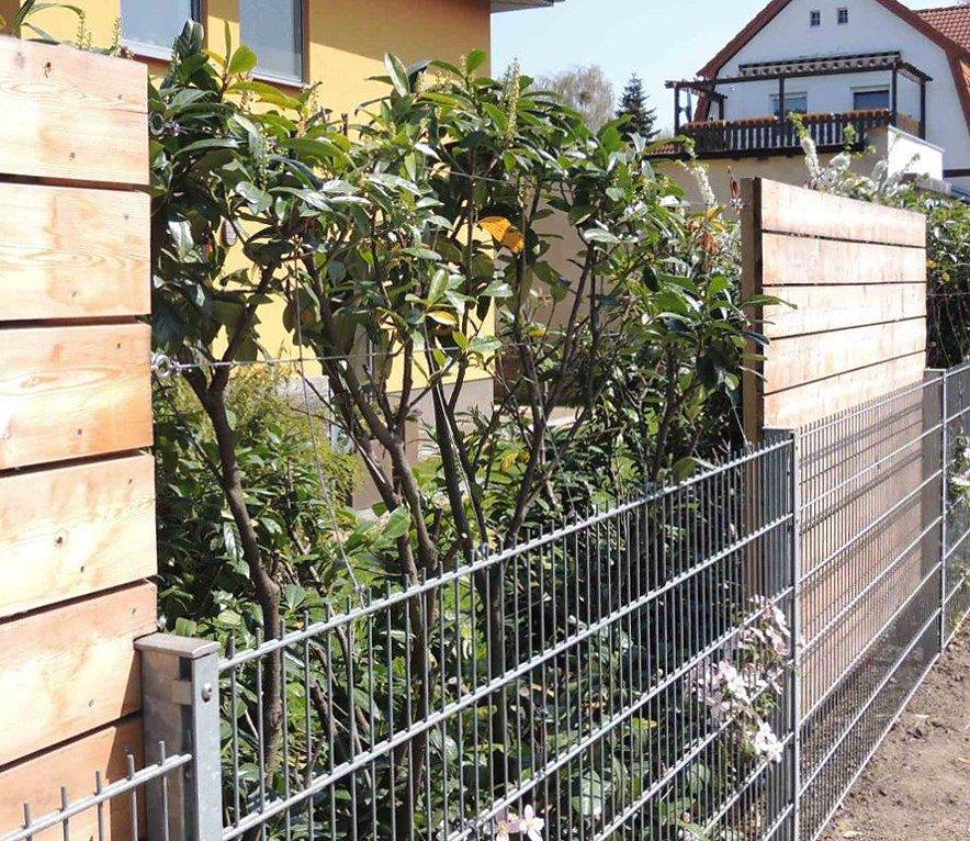 Sichtschutzzaun Holz Pfosten ~   von pfosten zu pfosten z b an verklebten kleinen ringbolzen wm 06030