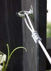 Rope loop in eyebolt