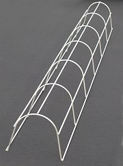 Curved stainless steel trellis for downpipes (drainpipes)