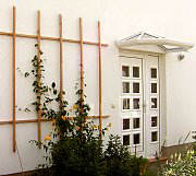 Trellises on thermal insulation